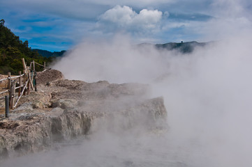 Mud volcano in Plateau Dieng National Park, Java, Indonesia
