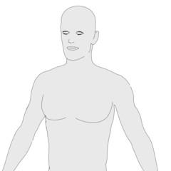 cartoon image of human (man)