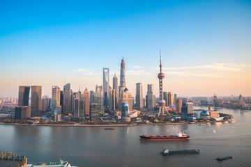 Wall Murals Shanghai shanghai lujiazui panoramic view