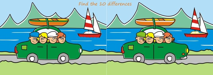 trip - find ten differences