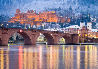Heidelberger Schloss im Winter