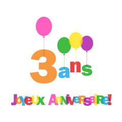 joyeux anniversaire bebe 3 ans