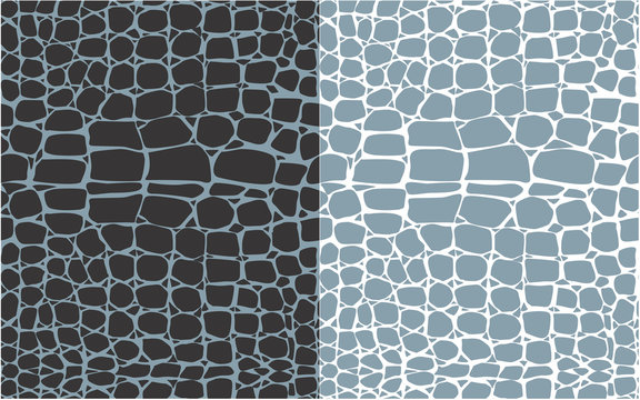 Set of reptile skin seamless patterns