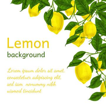 Lemon background poster