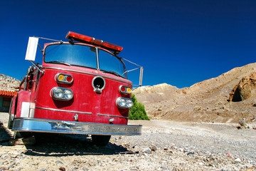 Old fire truck in Death Valley.