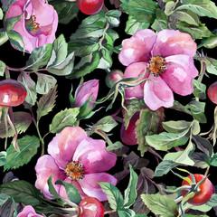 Rose Hip Seamless Pattern