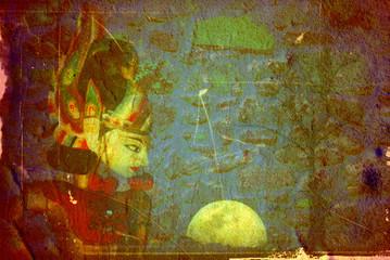 buddhism background vintage style
