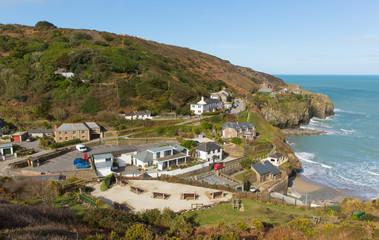 Cornwall coast town St Agnes England UK