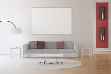 CAD-Entwurf von einem Wohnzimmer