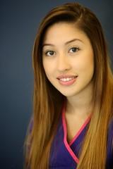 Portrait Young and Pretty Hispanic Female