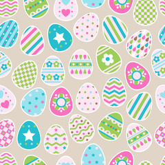 Seamless pattern of color easter eggs