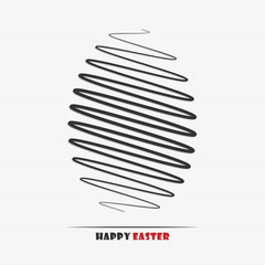 Vector illustration of an abstract easter egg for your design