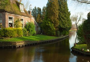 Canal in Giethoorn,  Dutch.