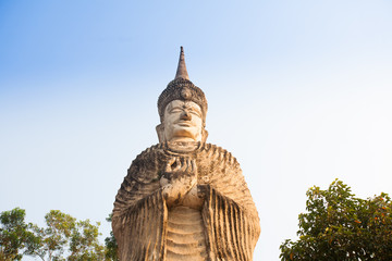 Ancient architecture  (Buddha park) in  Thailand
