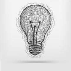 sketch light bulb