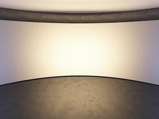 white photo studio wall