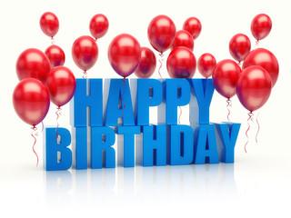 Happy birthday anniversary balloons