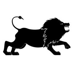 Löwe Vektor Rampant Heraldik Wappen