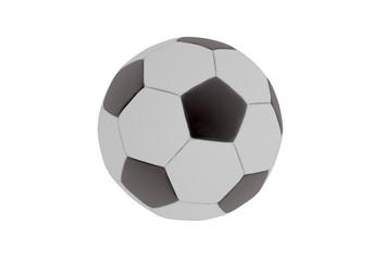 Retro Fußball- Render- weiß