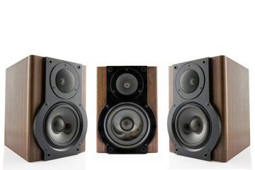 Three audio speakers