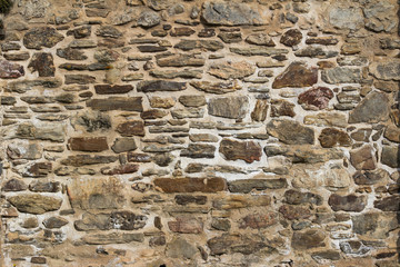Background texture and pattern of a stone wall
