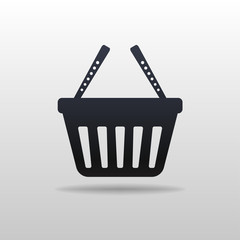 Black icon of Shopping cart