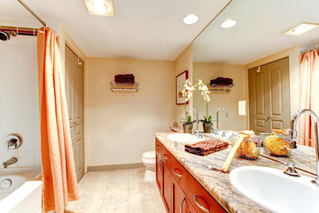 Gentle bathroom interior