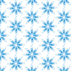 Seamless texture with stylized flowers. Vector art