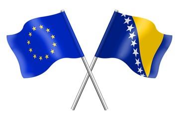 Flags : Europe and Bosnia-Herzegovina
