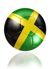 jamaica soccer ball on white background