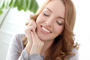 Lifestyle. Beautiful woman with cute smile