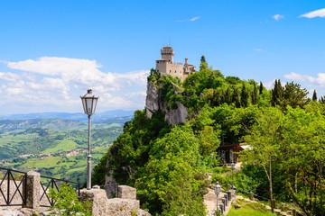 Castello della Cesta, fortress in San Marino republic, Italy Wall mural