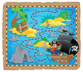 Pirate map theme image 3