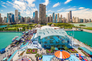 Photo sur Plexiglas Chicago Navy Pier in Chicago