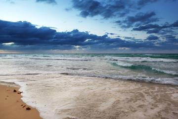 a ocean and sandy beach