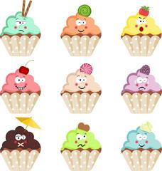 Emoticon Cupcakes