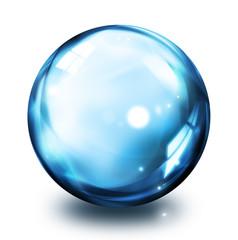 bubble icon - blue
