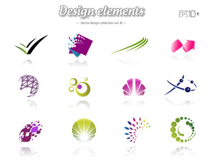 Color design set, isolated, vector illustration