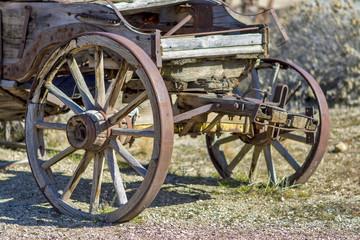 Rustic old pioneer wagon
