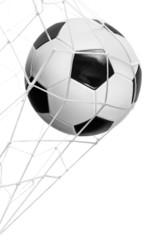 Soccer ball goal isolated