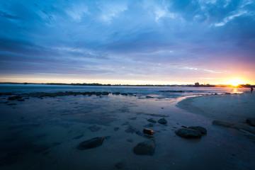 Beach sunset afterglow