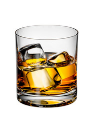 Fototapete - Scotch whiskey with ice