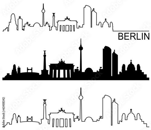 skyline berlin stockfotos und lizenzfreie vektoren auf bild 63408342. Black Bedroom Furniture Sets. Home Design Ideas