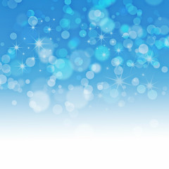 Blue background with a bokeh for design