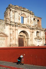 Ruins of El Carmen church at Antigua