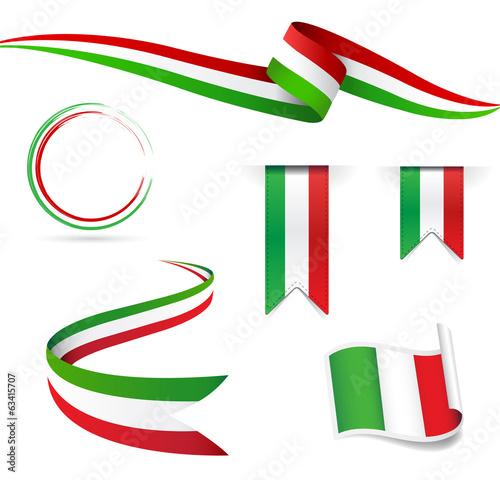 Bandiera italiana stock image and royalty free vector for Decoracion italiana