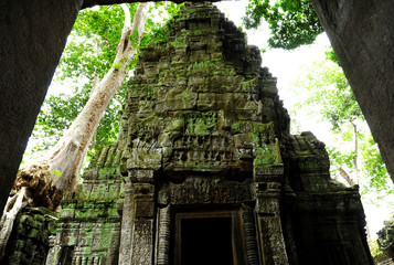 Ruin of Ancient Temple in Angkor Thom, Cambodia
