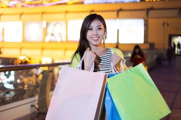 Fashion Shopping Girl Portrait.