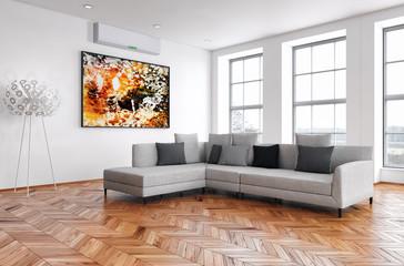 Obraz Interno con aria condizionata - fototapety do salonu