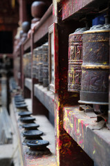 Prayer wheels in Boudhanath, Nepal